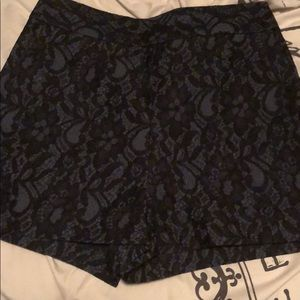 Express Blue Lace Shorts